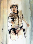 Star Wars Artwork Star Wars Artwork Blaster Luke