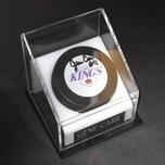 Sports Memorabilia & Collectibles Sports Memorabilia & Collectibles Gene Carr Signed Puck W/ Case