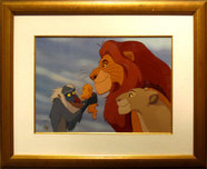 Lion King Artwork Lion King Artwork The Circle of Life (Framed)