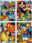 Mickey Mouse Artwork Mickey Mouse Artwork In the Company of Legends (Four Panel)