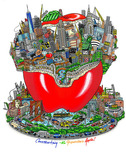 Charles Fazzino 3D Art Charles Fazzino 3D Art Constructing the Gridlocked Apple