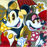 Mickey Mouse Artwork Mickey Mouse Artwork Cubist Couple -  Mickey and Minnie Mouse