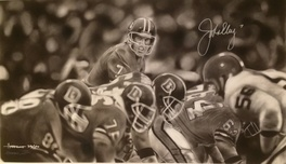 Sports Memorabilia & Collectibles Sports Memorabilia & Collectibles John Elway In Black & White By Dave Hobrecht