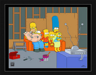 Simpsons Artwork Simpsons Artwork Couch Gag: Family with Pig