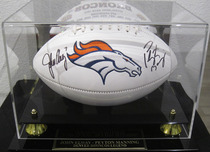 Sports Memorabilia & Collectibles Sports Memorabilia & Collectibles Signed Football by Peyton Manning and John Elway