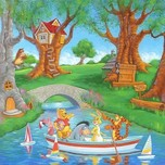 Winnie the Pooh Artwork Winnie the Pooh Artwork Friends in the Wood