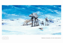 Star Wars Artwork Star Wars Artwork Imperial Walkers on the North Ridge