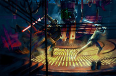 Star Wars Artwork Star Wars Artwork Jedi Duel