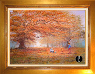 Winnie the Pooh Artwork Winnie the Pooh Artwork The Joy of Autumn Leaves