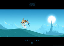 Star Wars Artwork Star Wars Artwork Little Leias Destiny