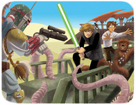 Star Wars Artwork Star Wars Artwork Luke to the Rescue
