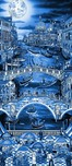 Charles Fazzino 3D Art Charles Fazzino 3D Art Midnight in Venice (AP) (Blue)