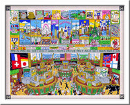 Charles Fazzino 3D Art Charles Fazzino 3D Art A Penny Saved Is A Penny Earned (SN) - Framed