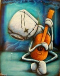 Fabio Napoleoni Fabio Napoleoni Playing on My Heart Strings (PP) Canvas (Gallery Wrapped)