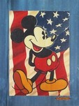 Mickey Mouse Artwork Mickey Mouse Artwork Red, White and Blue Jeans