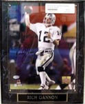 Sports Memorabilia & Collectibles Sports Memorabilia & Collectibles Rich Gannon Signed Action 8 x 10 Photo - Plaque