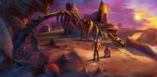 Star Wars Artwork Star Wars Artwork Road To Jabba's Palace