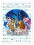 Lady and The Tramp Artwork Lady and The Tramp Artwork Belle Notte