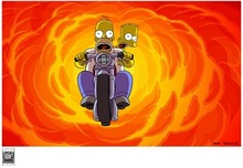 20th Century Fox Artwork 20th Century Fox Artwork Bart & Homer on Bike