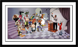 Bugs Bunny Animation Art Bugs Bunny Animation Art We are the Tunes - Hand Signed by Quincy Jones