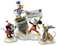 Mickey Mouse WDCC Figurines Mickey Mouse WDCC Figurines Mickey, Donald, Minnie and Pluto - Merry Messengers