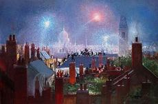 Peter Ellenshaw Peter Ellenshaw Sweeps Dance On The Rooftops of London