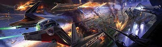 Star Wars Artwork Star Wars Artwork Space Battle