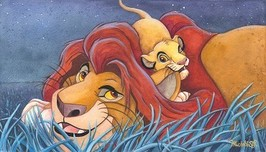 Lion King Artwork Lion King Artwork Father and Son