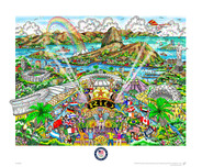 Charles Fazzino 3D Art Charles Fazzino 3D Art Summer Olympic Games in Rio 2016 (DX) Framed
