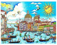 Charles Fazzino 3D Art Charles Fazzino 3D Art The Sun Rises Over Venice (DX)