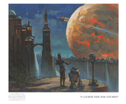 Star Wars Artwork Star Wars Artwork The Droids' Vista