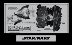 Star Wars Artwork Star Wars Artwork Tie Fighter (Sketchplate)