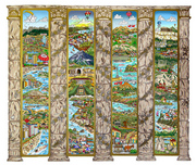 Charles Fazzino 3D Art Charles Fazzino 3D Art A Tour Of The Mediterranean Mural (DX)