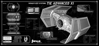 Star Wars Artwork Star Wars Artwork Vader's TIE plate (tech plate)