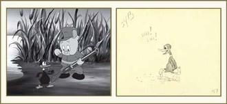 Donald Duck Animation Art Donald Duck Animation Art Woo! Woo!