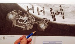 Robert Bailey Animation & Super Hero Art Y-Wing in Trouble
