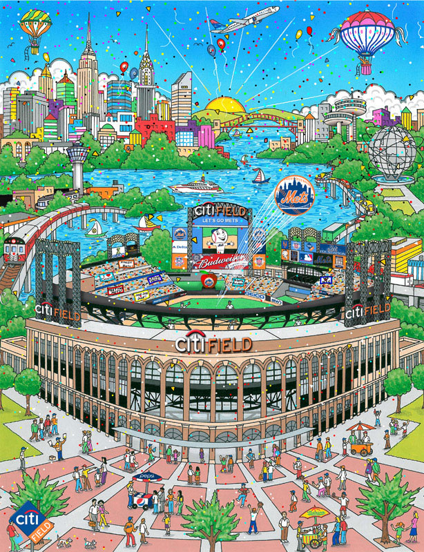 Charles Fazzino Citifield:  The Home of the Amazin' Mets (DX)