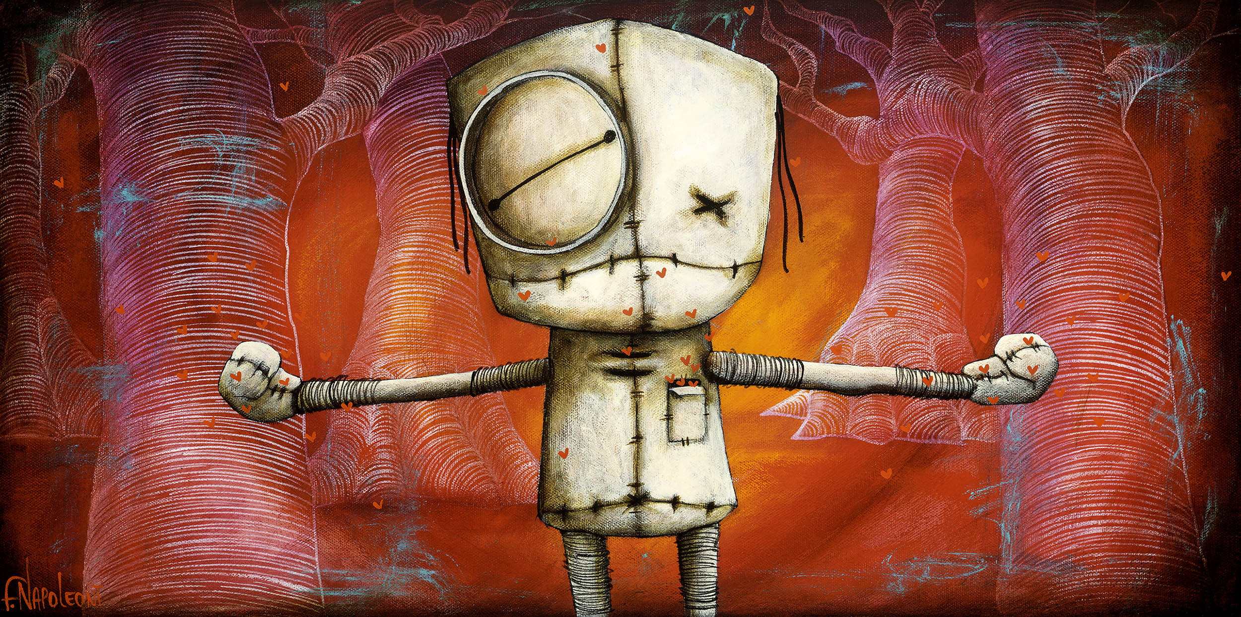 Fabio Napoleoni I Love You This Much (PP) Canvas