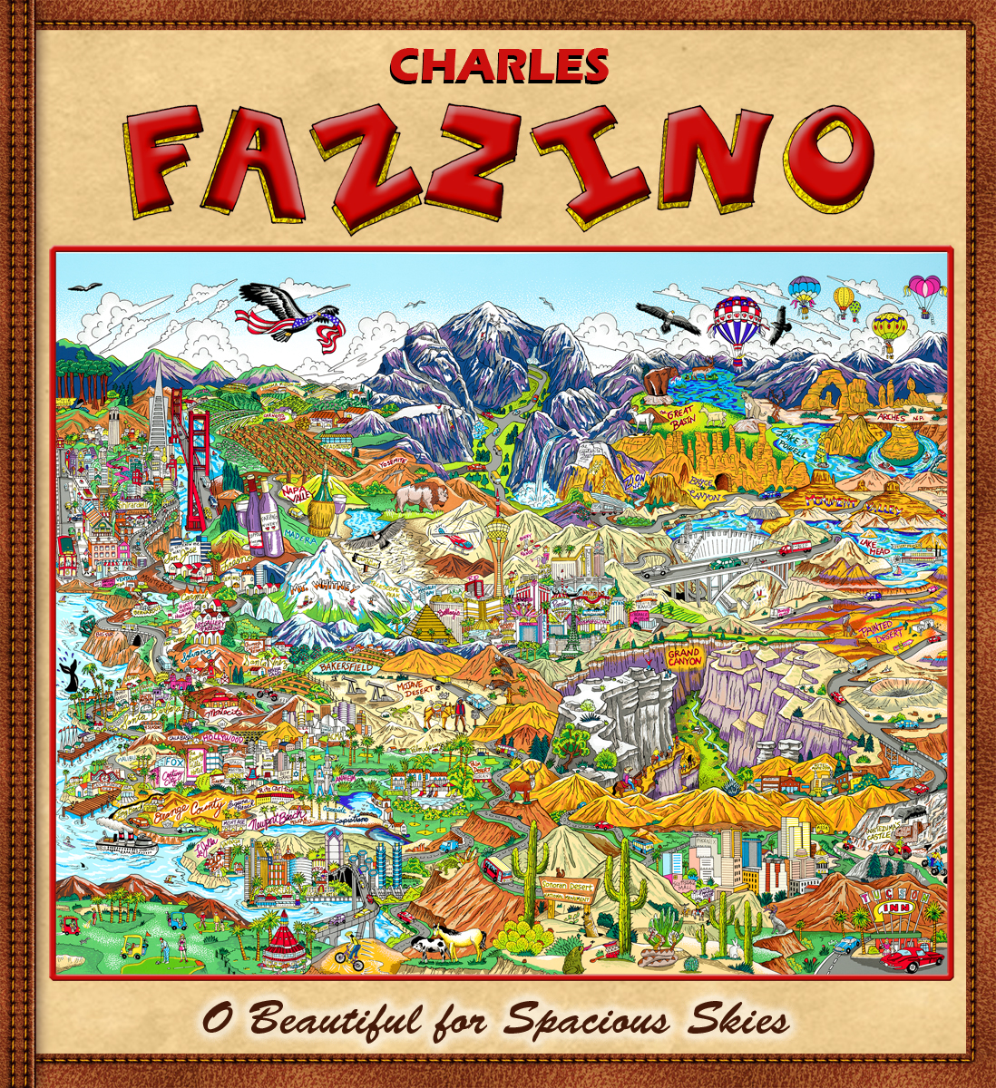 Charles Fazzino O Beautiful for Spacious Skies (Collector Edition Book)