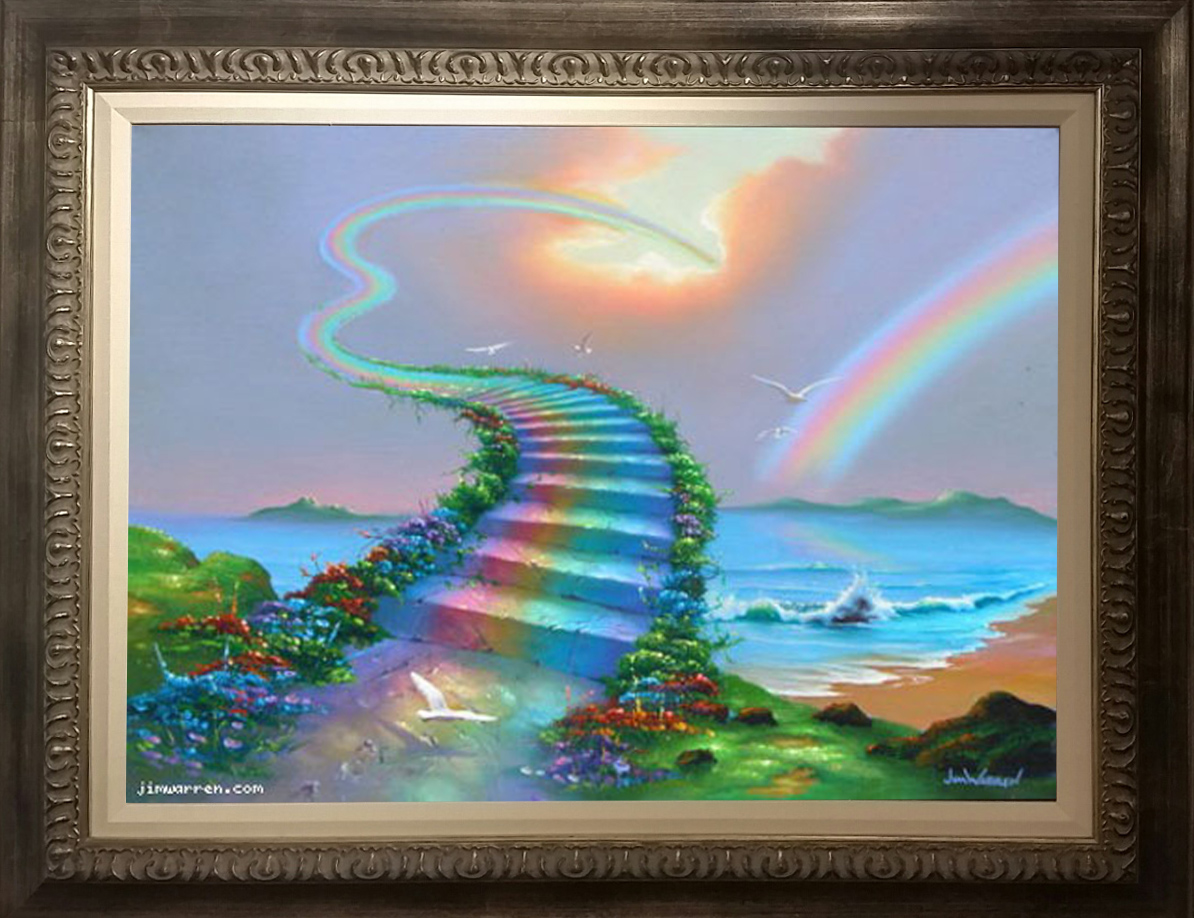 Jim Warren Over The Rainbow- Framed