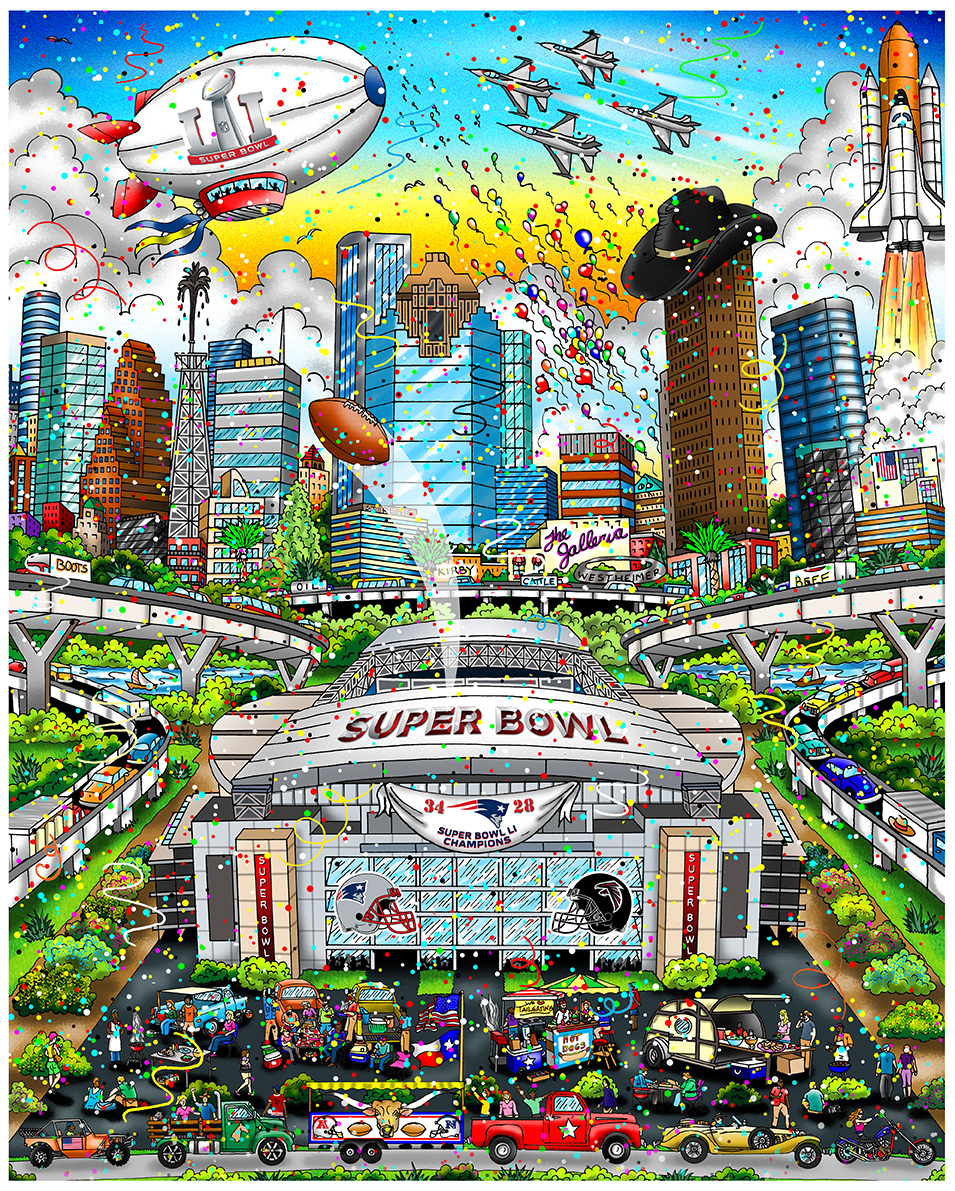 Charles Fazzino Super Bowl LI - Houston (PR)