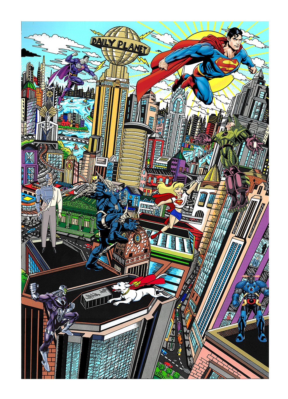Charles Fazzino Superman Saves the Day (DX)