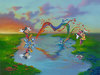 Jim Warren Limited Edition Giclee on Canvas A Message to Minnie
