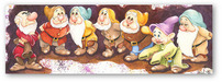 Snow White Artwork Limited Edition Giclee on Canvas All Seven