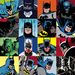 Superhero Artwork Limited Edition Giclee on Paper Faces of Batman (Paper)
