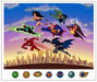 Superhero Artwork Limited Edition Hand-Painted Cel The Power of Seven