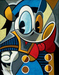 Tim Rogerson Limited Edition Giclee on Canvas Cubist Quack - Donald Duck