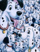101 Dalmatians Art Limited Edition Giclee on Canvas 101 Dalmations