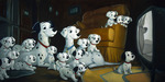 101 Dalmatians Art Limited Edition Giclee on Canvas Family Time