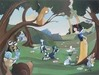 Snow White Artwork Limited Edition Giclee on Canvas Forest Friends